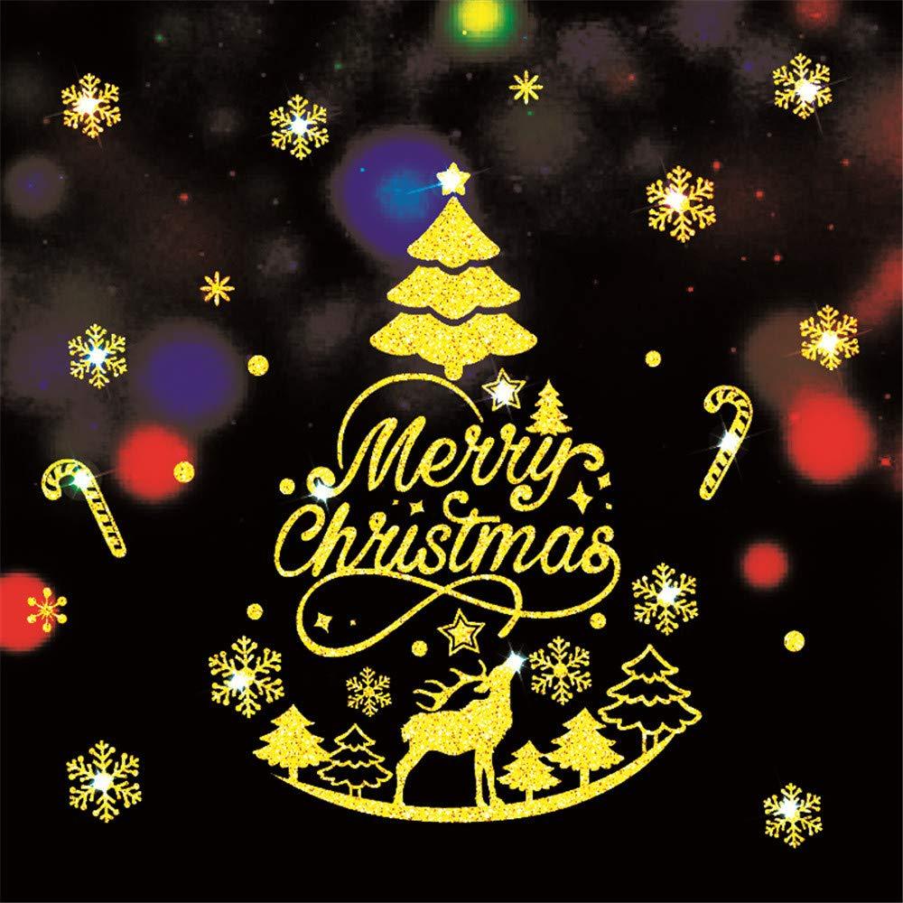 DIY pgojuni Merry Christmas Household Room Wall Sticker Mural Decor Decal Removable Wallpaper Home Decor 1PC (C)