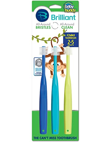 Brilliant Child Toothbrush by Baby Buddy - For Ages 2+ Years, BPA Free Super