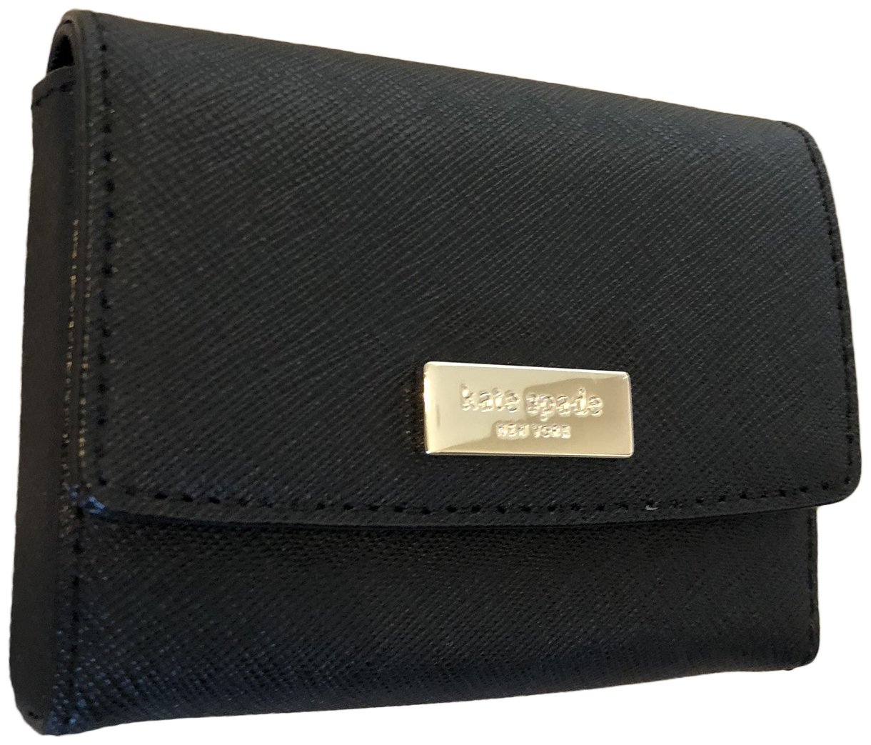 Kate Spade New York Saffiano Leather Business Card Case Holder Black