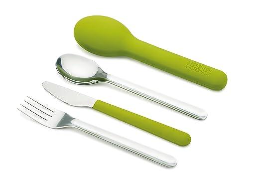 8 opinioni per Joseph Joseph Go Eat Set Posate, Acciaio Inossidabile, Verde, 3 Pezzi