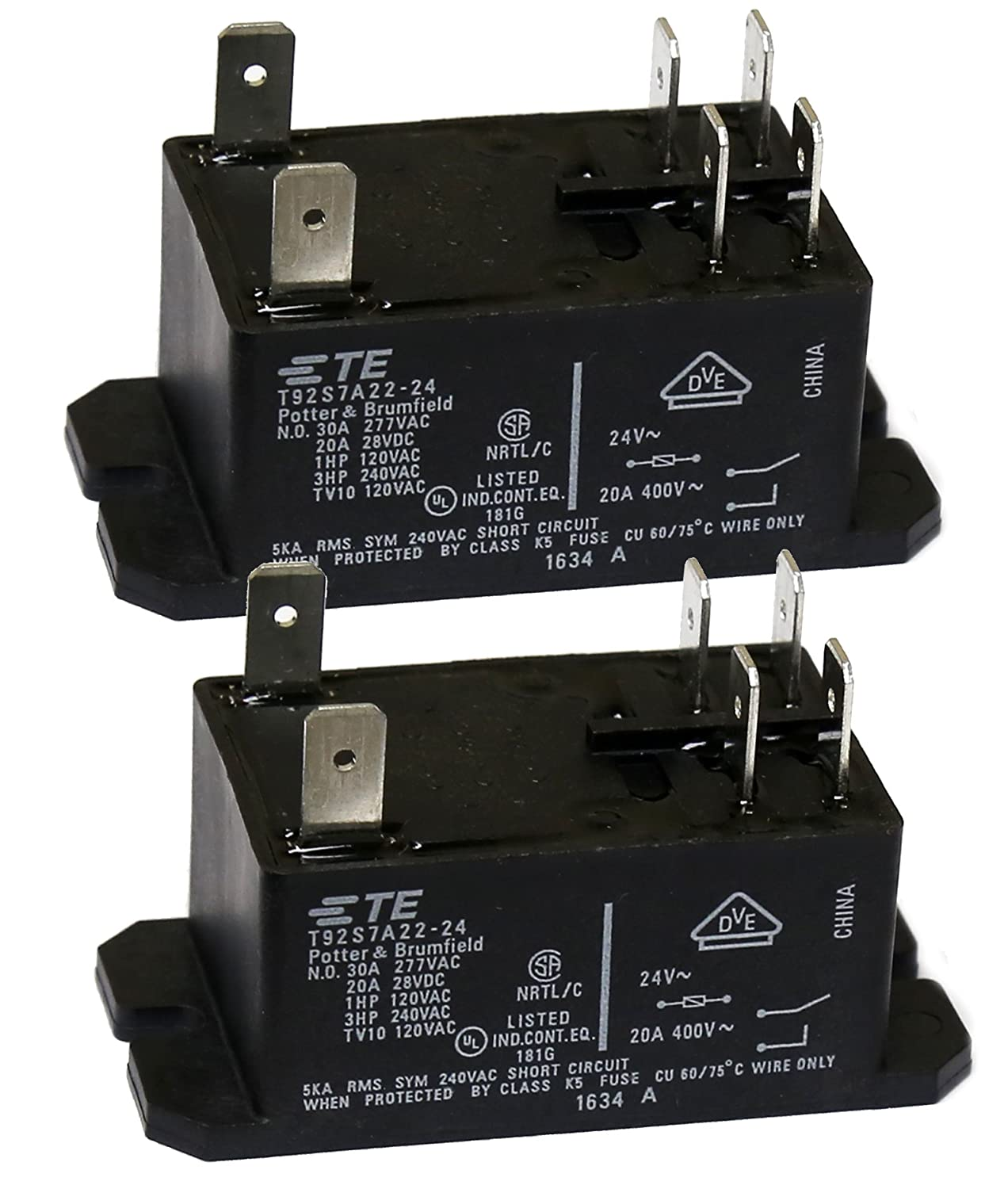 TE Connectivity T92S7A22-120 POWER RELAY 110//120VAC 30A DC