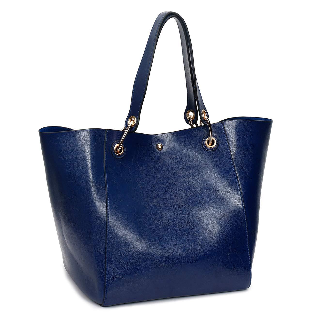 0b2a361a8c Amazon.com  Handbag Sets for Women Large Purse Tote Satchel Top Handle Shoulder  Bags 4pcs (Blue)  Shoes