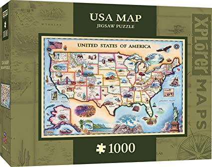 Buy MasterPieces Xplorer Map USA Jigsaw Puzzle, 1000-Piece Online at ...