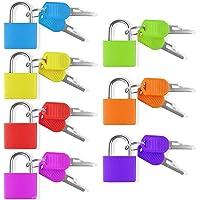 7 stuks hangsloten met sleutel, kleurrijk kofferslot, set kleine mini-tassen, bagagesloten, 7 kleuren