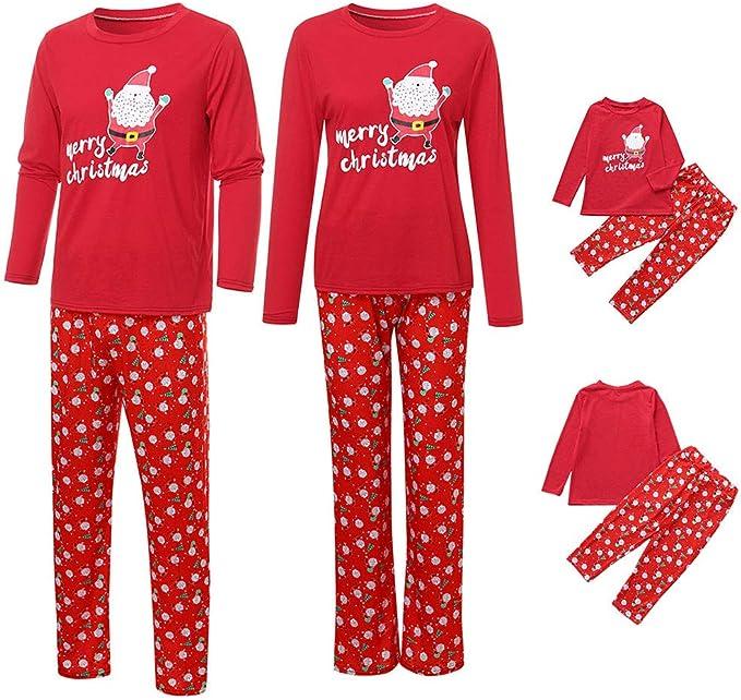 HULKY Parent Enfant Pyjama No/ël Famille Pyjamas Sleepwear V/êtement Noel B/éb/é Enfant Femme Homme Pajamas Chemise Pantalons Ensembles Sleepwear Matching Christmas Set Pyjama Soie Femme Pyjama Polaire
