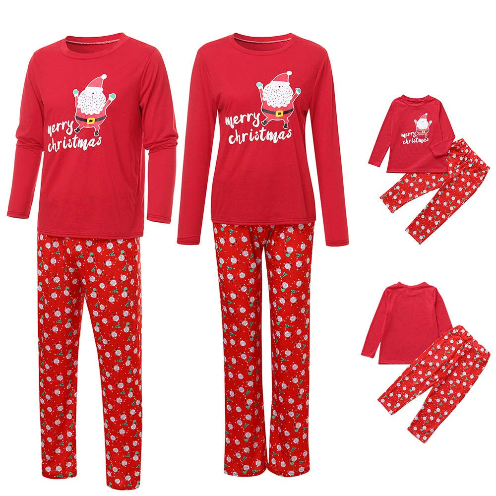 BURFLY Clearance Kids Baby Boys Girls Christmas T-Shirt Tops with Pants, Dad& Mom Family Matching Outfit, Family Christmas Pajamas Sleepwear Clothes Set
