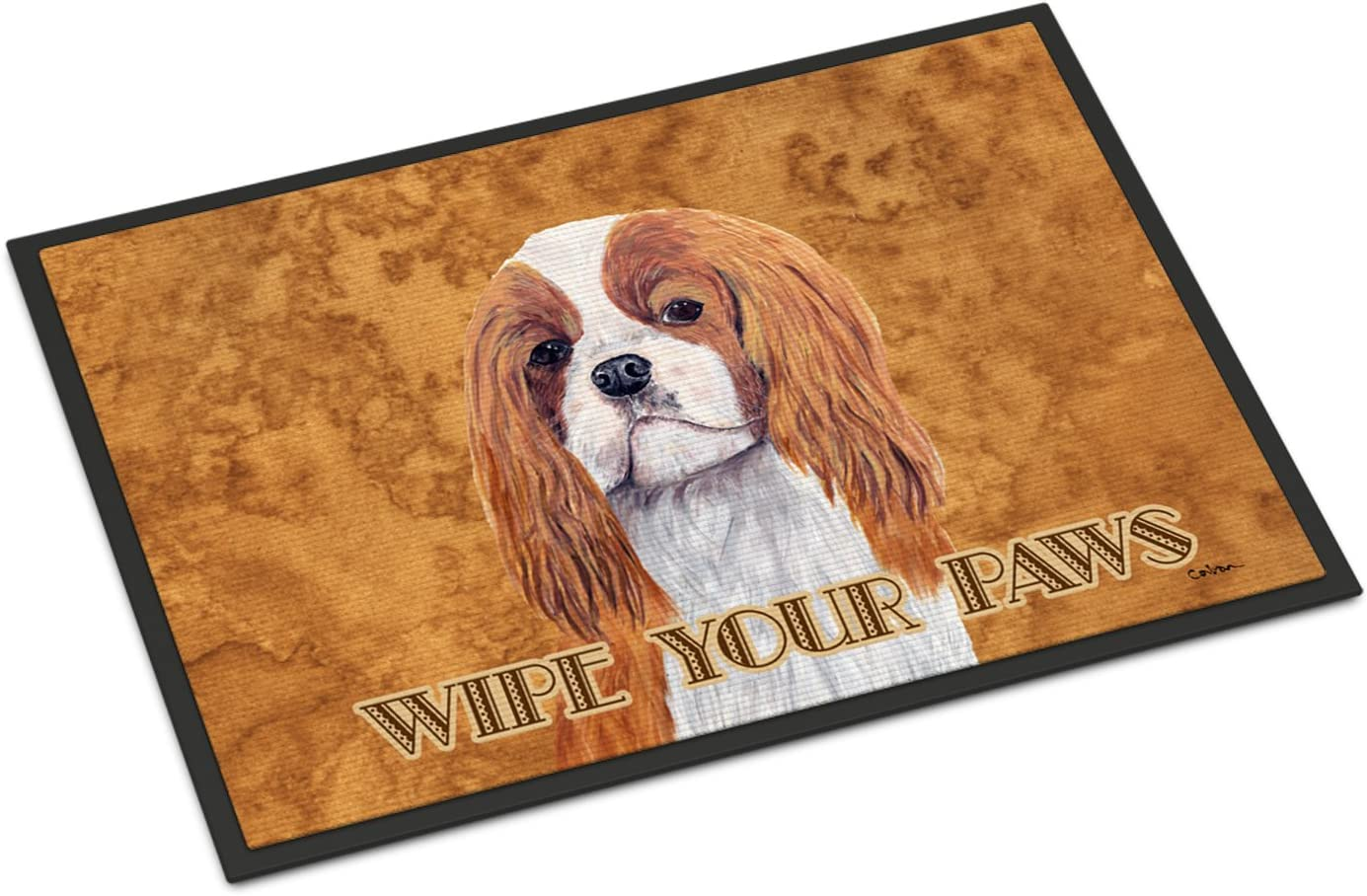 Caroline s Treasures SC9118JMAT Cavalier Spaniel Indoor or Outdoor Mat 24×36 Doormat, 24H X 36W, Multicolor