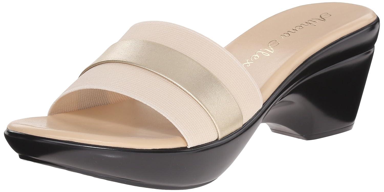 Amazon.com | Athena Alexander Women's Brandy Slide Sandal, Beige, 11 M US |  Platforms & Wedges