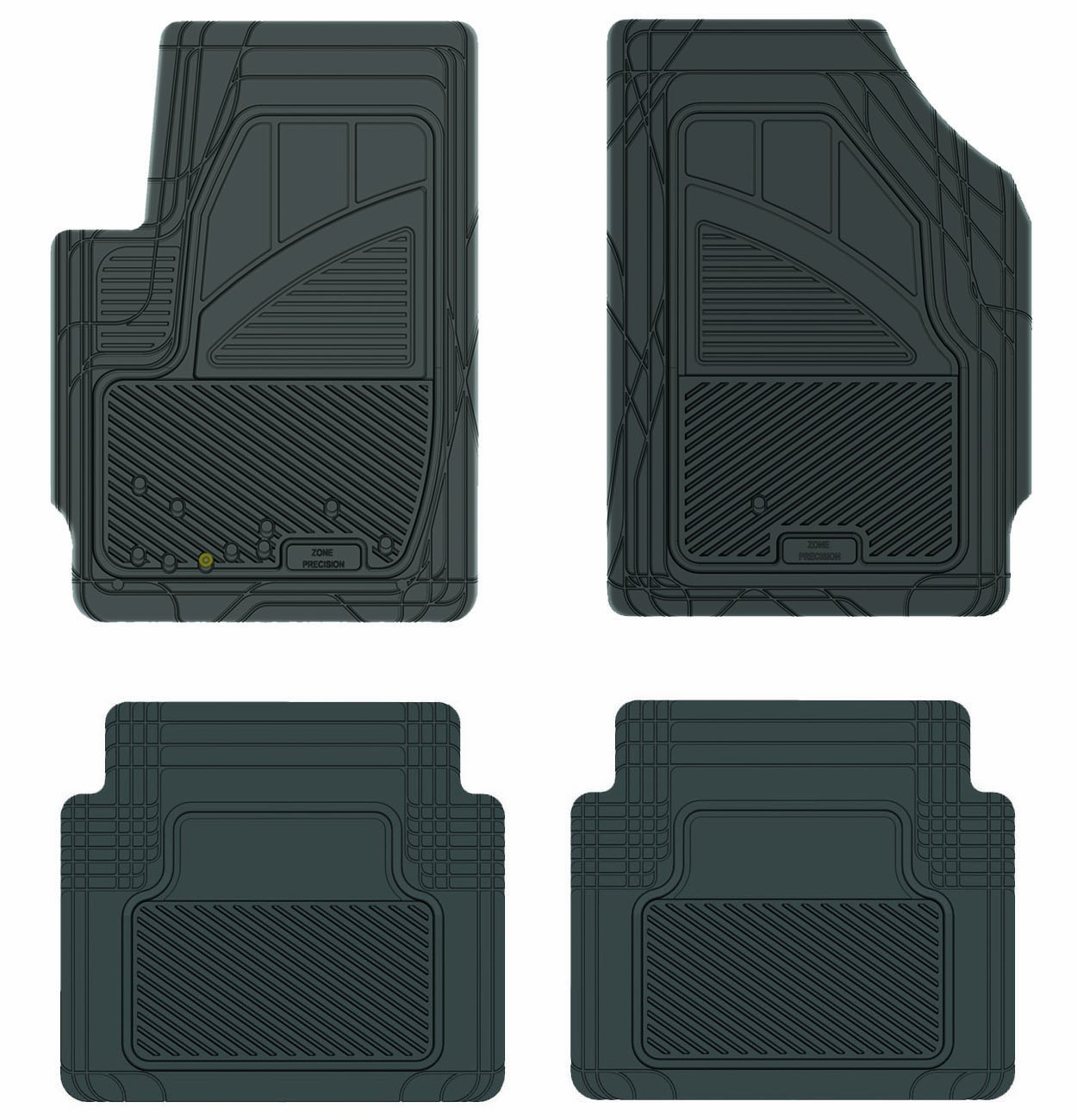 Koolatron Pants Saver Custom Fit 4 Piece All Weather Car Mat Black