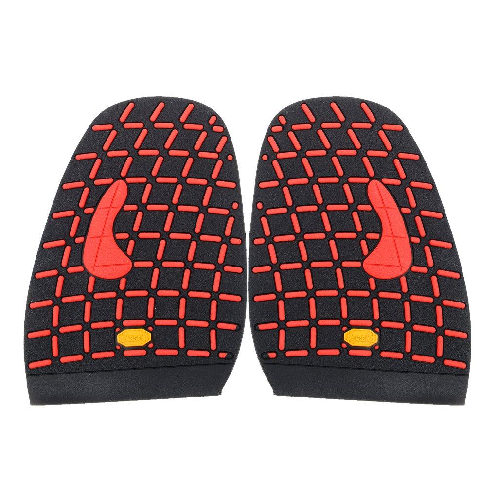 Footful Paire de Demi-Semelle Caoutchouc Avant-pied de Chaussure Réparation de Chaussures 29 STK0155010290
