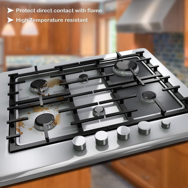 facile da pulire Tappetino per piano cottura a induzione rivestimento antiaderente per fornelli a gas rivestimento protettivo per piano cottura a gas riutilizzabile protezione per fornelli a gas
