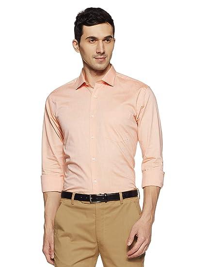 414a8d0cc17 Park Avenue Men s Plain Slim Fit Formal Shirt  Amazon.in  Clothing    Accessories