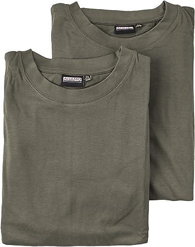 Pack de 2 Camisetas Basic Caqui Oversize Adamo Moda: Amazon.es: Ropa y accesorios