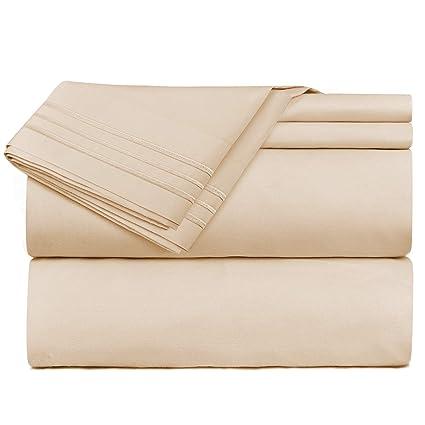 4472642f08 Nestl Bedding 4 Piece Sheet Set - 1800 Deep Pocket Bed Sheet Set - Hotel  Luxury