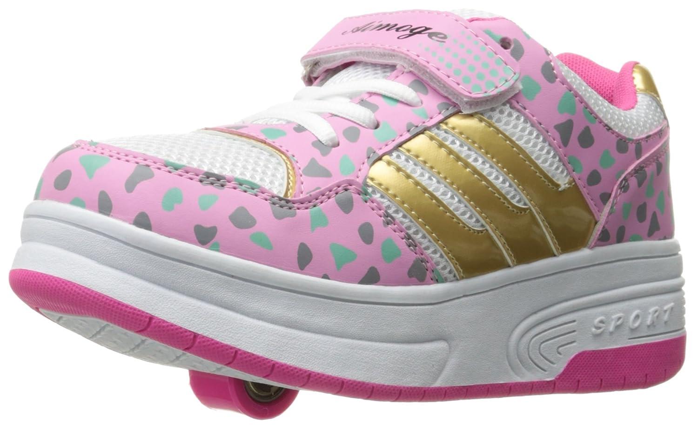 DADAWEN Boy's Girl's Single Wheel Double Wheel Skate Shoe (Toddler/Little Kid/Big Kid) 70494-1642