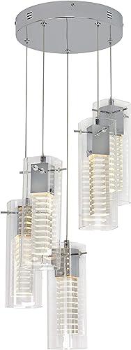 Artika HOL5SP Hologram Spiral LED Integrated Pendant 5-Light Fixture Modern Design