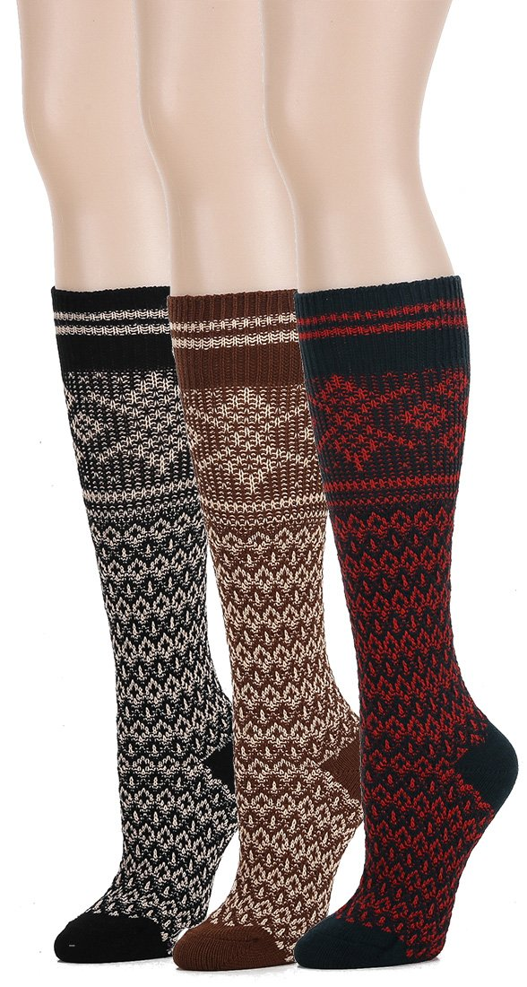 Leotruny Women's Vintage Style Boot Socks 3-pack (Ethnic)
