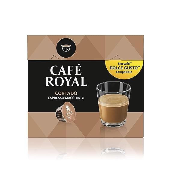 Café Royal Cortado 48 cápsulas compatibles con Nescafé Dolce Gusto (Pack de 3 x 16