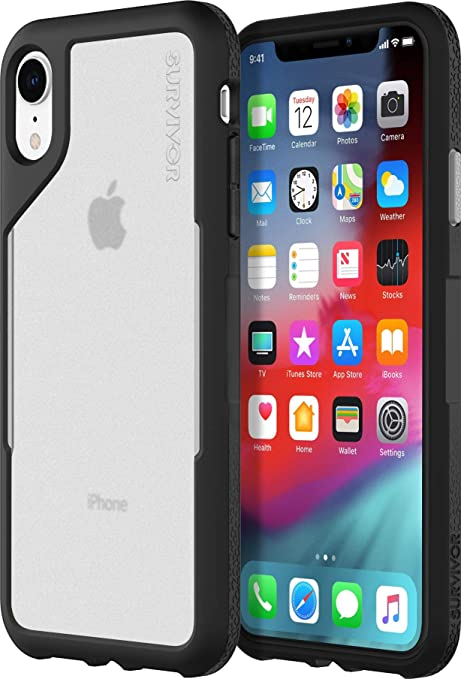 newest 49cfb 2a073 Griffin Survivor Endurance for iPhone XR, Black/Gray - UNPRECEDENTED  Ultra-Slim, Ultra-Protective CASE for iPhone XR