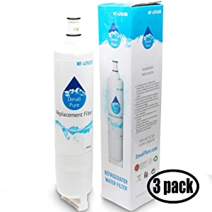 3-Pack Replacement for for KitchenAid KSRP25FNSS00 Refrigerator Water Filter - Compatible with with KitchenAid 4396508, 4396509, 4396510 Fridge Water Filter Cartridge