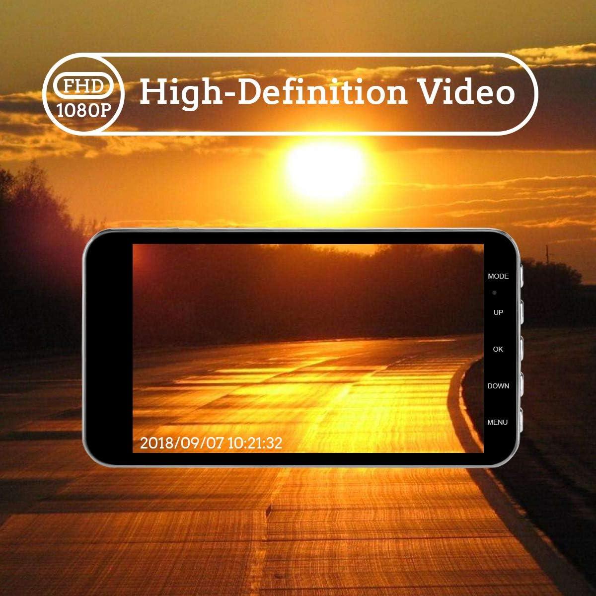 Monitor de Estacionamiento Coche Video Recorder KKmoon Grabador Dash CAM 1080P HD DVR 140/°/Ángulo,Visi/ón Nocturna C/ámara,Control de Voz WiFi