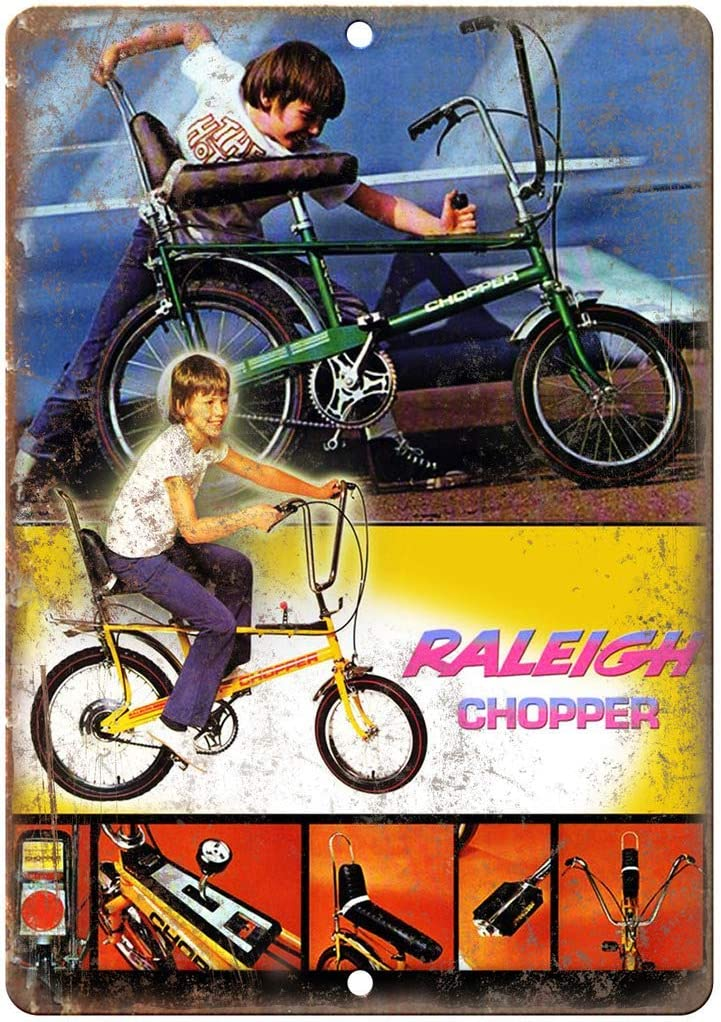 RABEAN Raleigh Chopper - Cartel de Metal para Pintar en la Pared ...