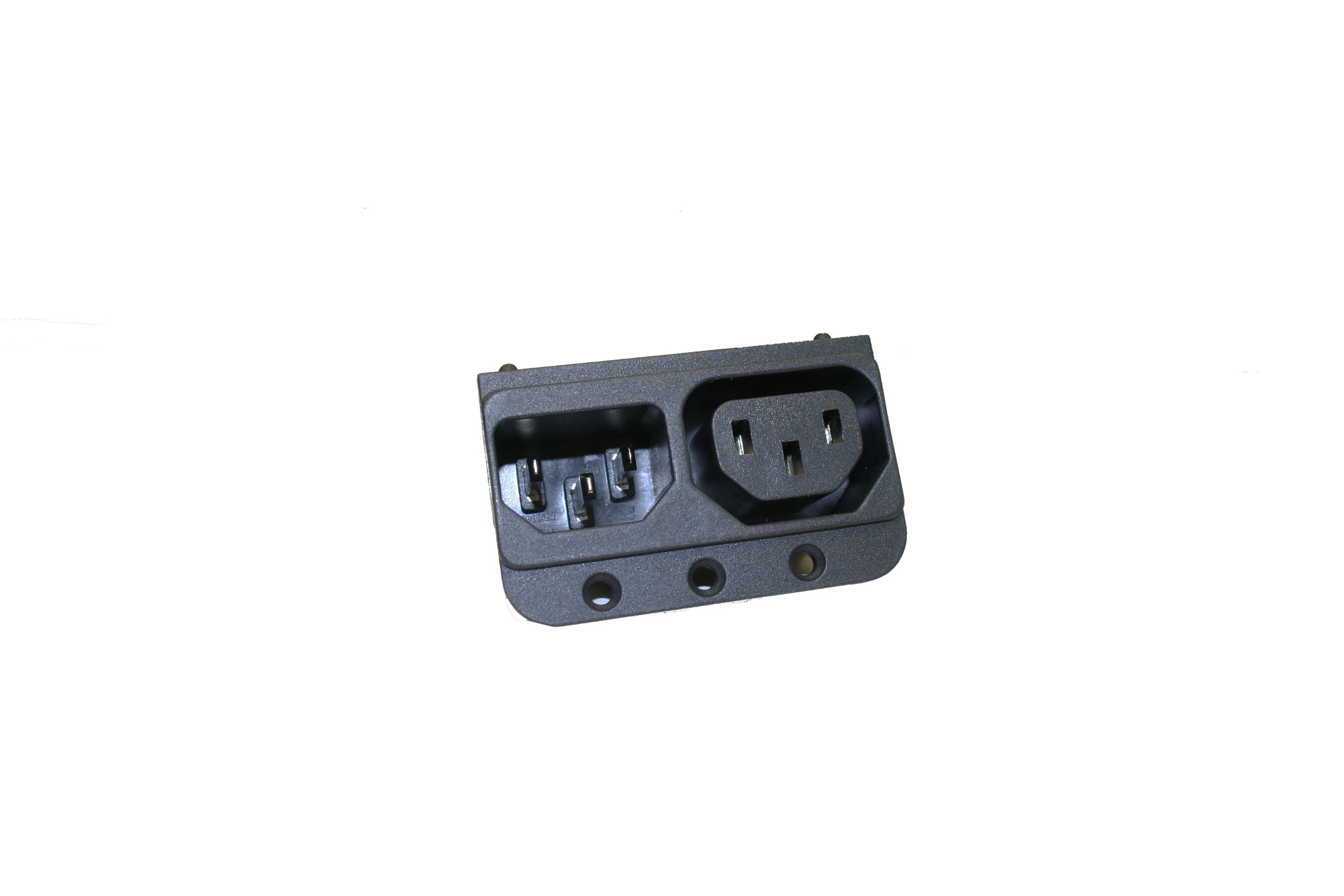 Interpower 83511400 Two Function Power Entry Module, C14 Inlet, C13 Outlet, 15A/10A Current Rating, 120/250VAC Voltage Rating by Interpower