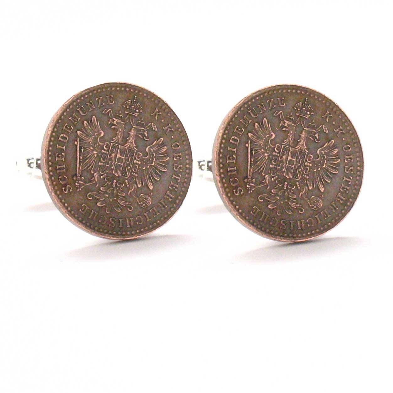 Austria Coins Cufflinks Cuff Links Europe Germany Austrian Souvenir Manschettenknöpfe Österreich Williams Manufacturing