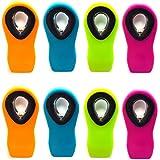 8pc Alazco Neon Color Silicone Secure Grip All-Purpose Bag Clips