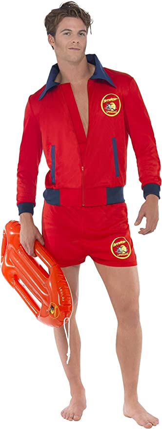 80s Costumes, Outfit Ideas- Girls and Guys Smiffys Officially Licensed Baywatch Lifeguard Costume £25.79 AT vintagedancer.com