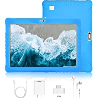 Tablet 10 Pulgadas 4G Full HD 3GB de RAM 32GB/128GB de ROM Android 9.0 Quad Core Tablet Batería de 8500mAh Dual SIM 8MP Cámara Tablet PC Netfilx Google WiFi Bluetooth GPS OTG(Azul)