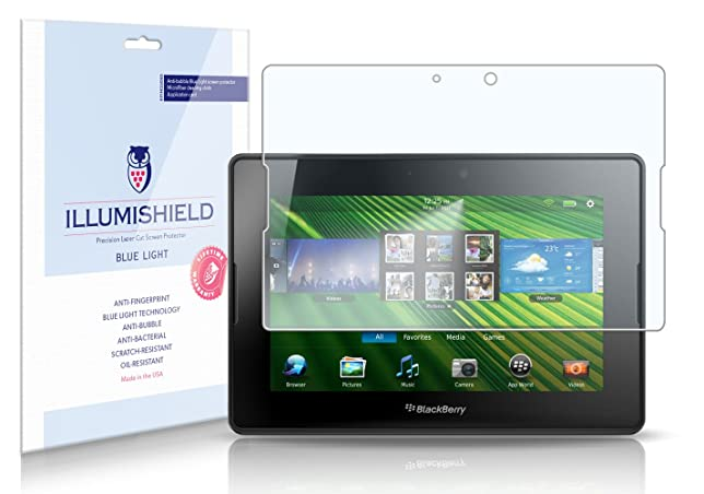 Amazoncom Illumishield Blackberry Playbook 7 Hd Blue Light Uv