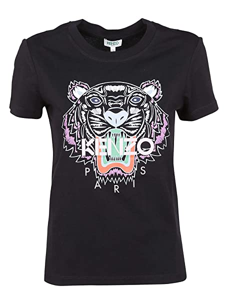 cb25a24d Kenzo Women's F952TS7214YB99 Black Cotton T-Shirt: Amazon.co.uk: Clothing