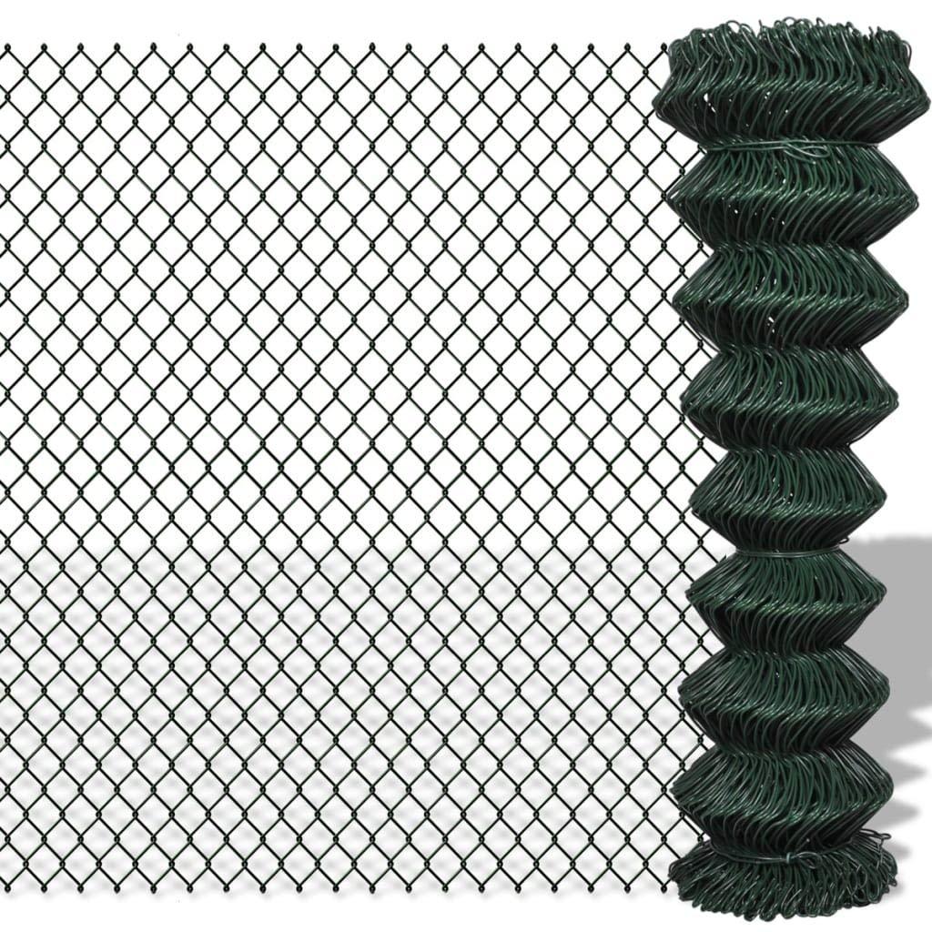 Binzhoueushopping zincate catena Link fence-chain recinzione 1.5 x 15 m verde