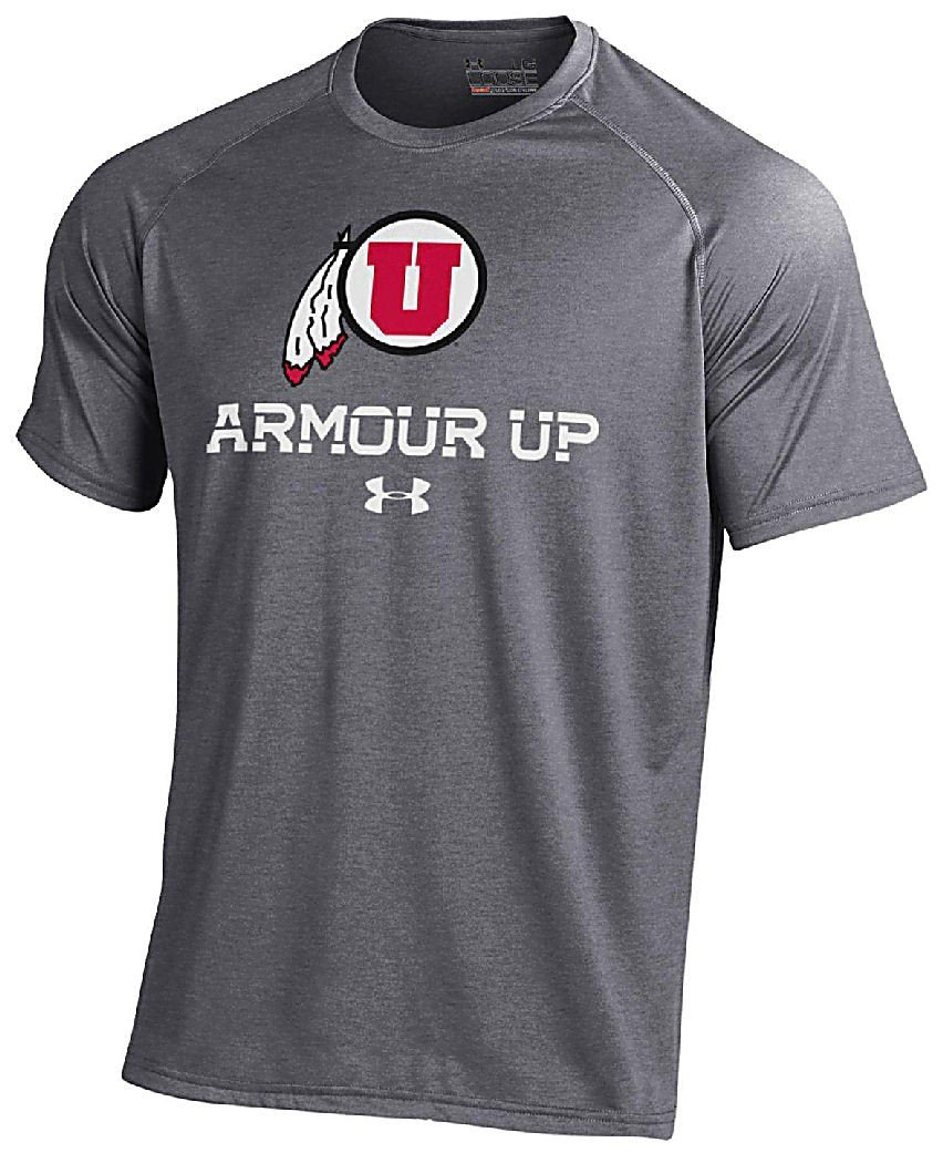 Under Armour Utah Utes grau Poly Dry HeatGear Nutech Short Sleeve Shirt