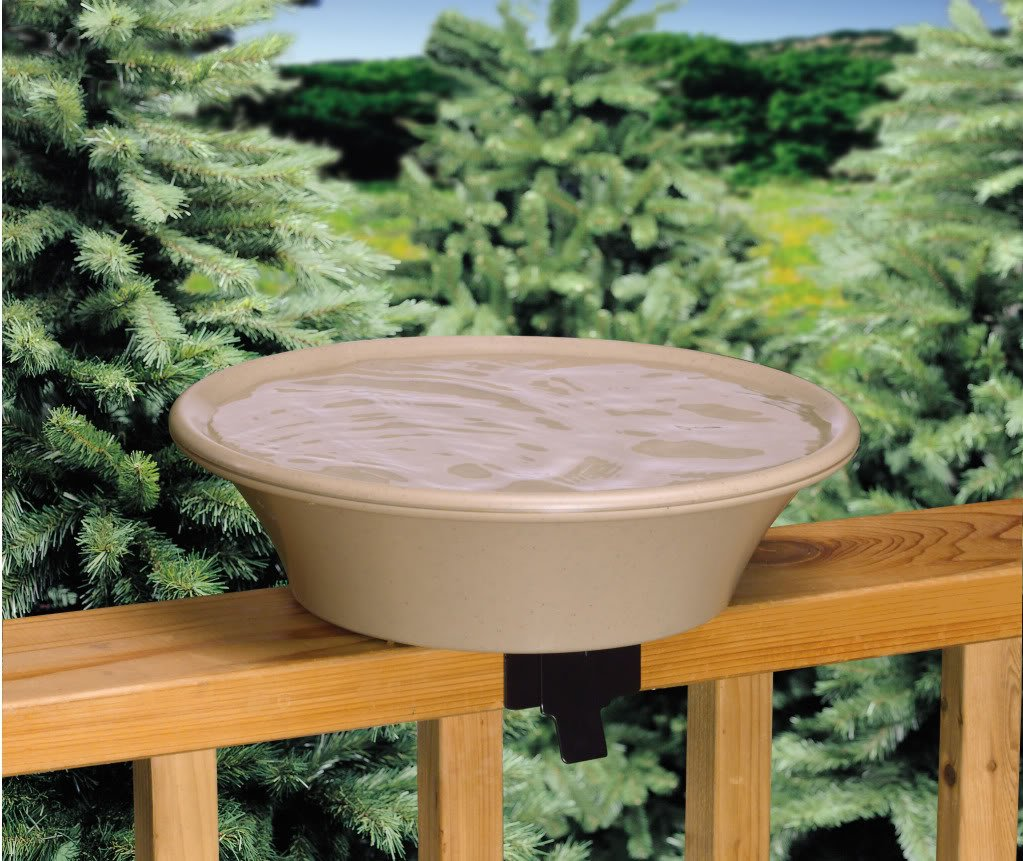 API 13B Non-Heated Bird Bath with EZ-Tilt Deck Mount, 14-Inches Allied Precision Industries ALLIEDPR13B_loc