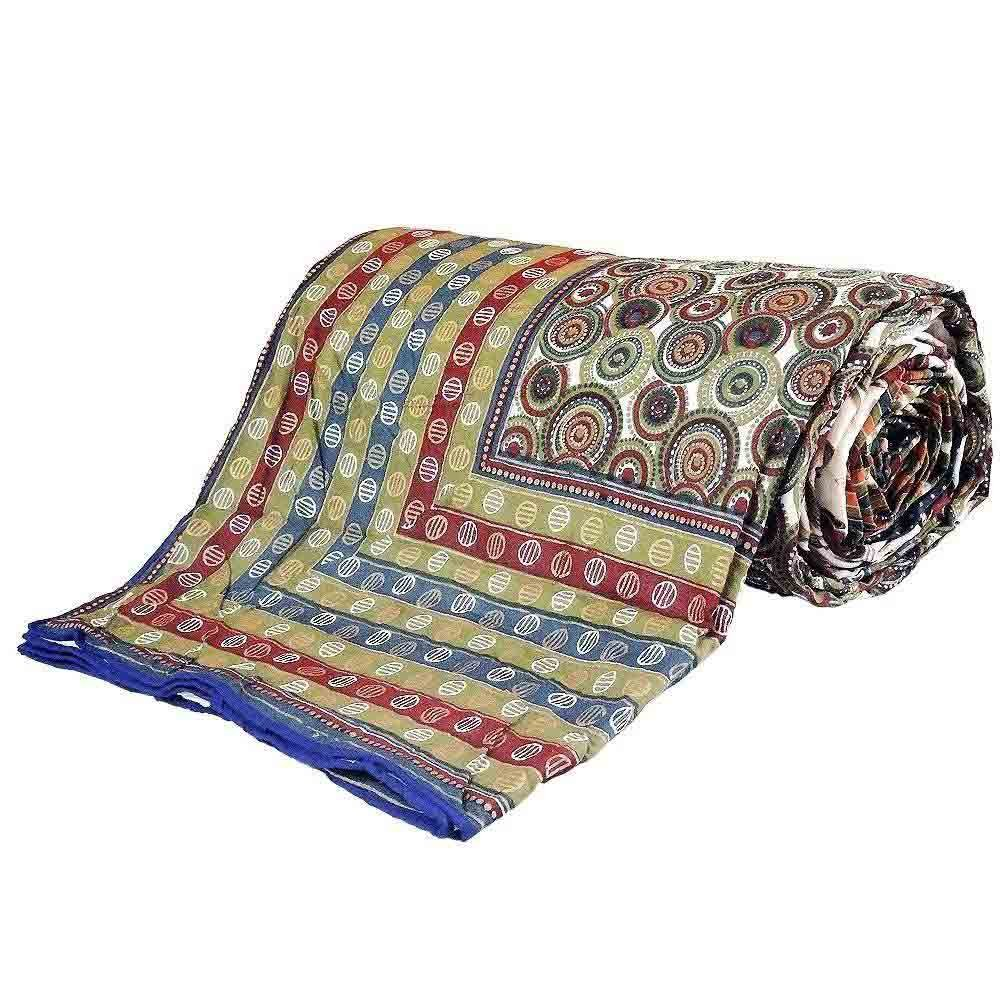 Little India Handblock Print Multicolor Cotton Double Bed Dohar 308 by Little India (Image #1)