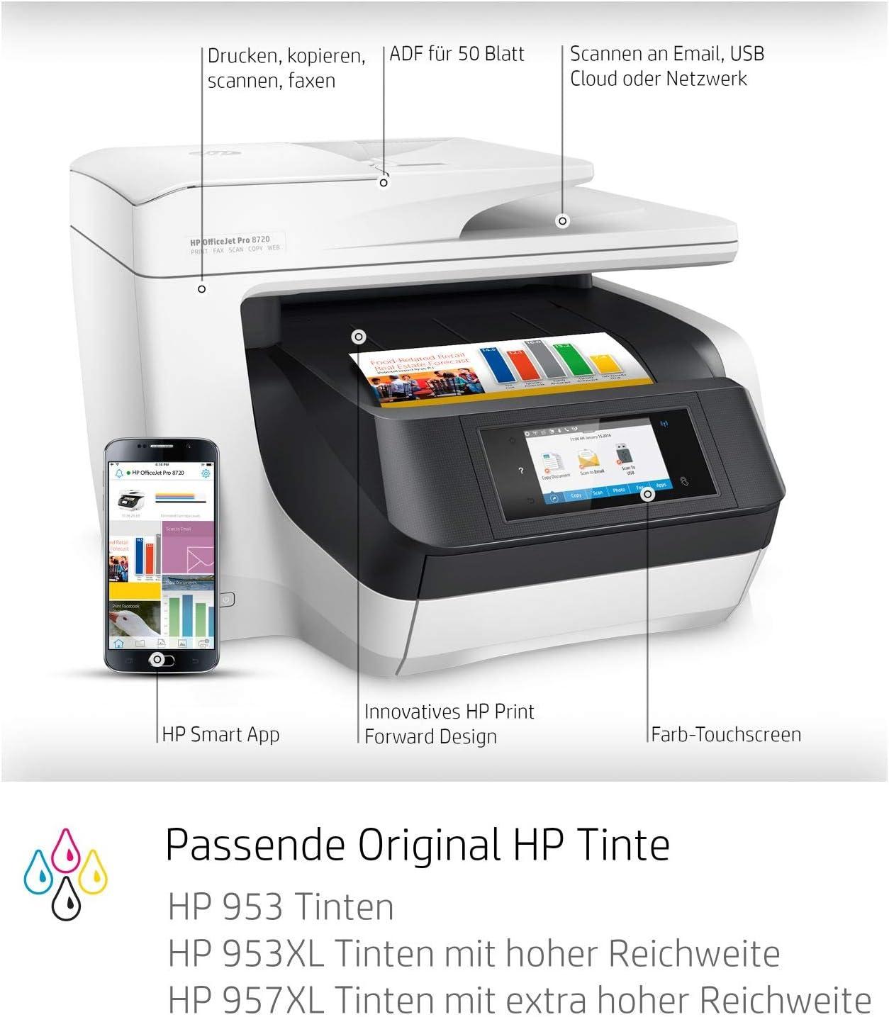 Hp Officejet Pro 8720 Multifunktionsdrucker Computer Zubehör