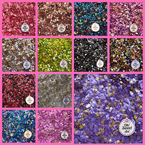 EDIBLE GLITTER Pick Up your COLOR 1/4 oz flakes stars for cakesfor cupcakes for cookies By Oh Sweet Art Unicorn Violet