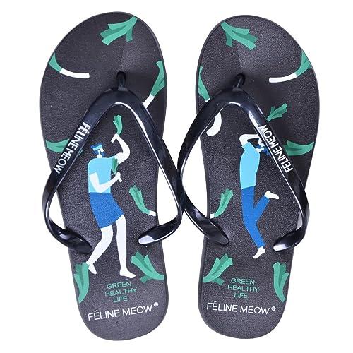 aa4ad97fed7780 Dear Time Women s Flip Flops Summer Beach Thong Sandals Casual Flat Slippers  Black ...
