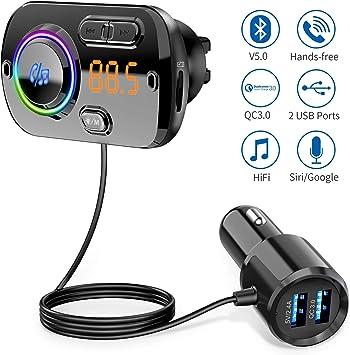 KFZ FM Transmitter MP3 Player⚡ Bluetooth Auto Handy Freisprechanlage MicroSD AUX