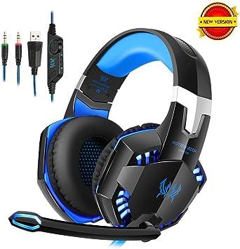 Daping Auriculares Gaming con Micrófono PC Cascos Gaming Estéreo ...