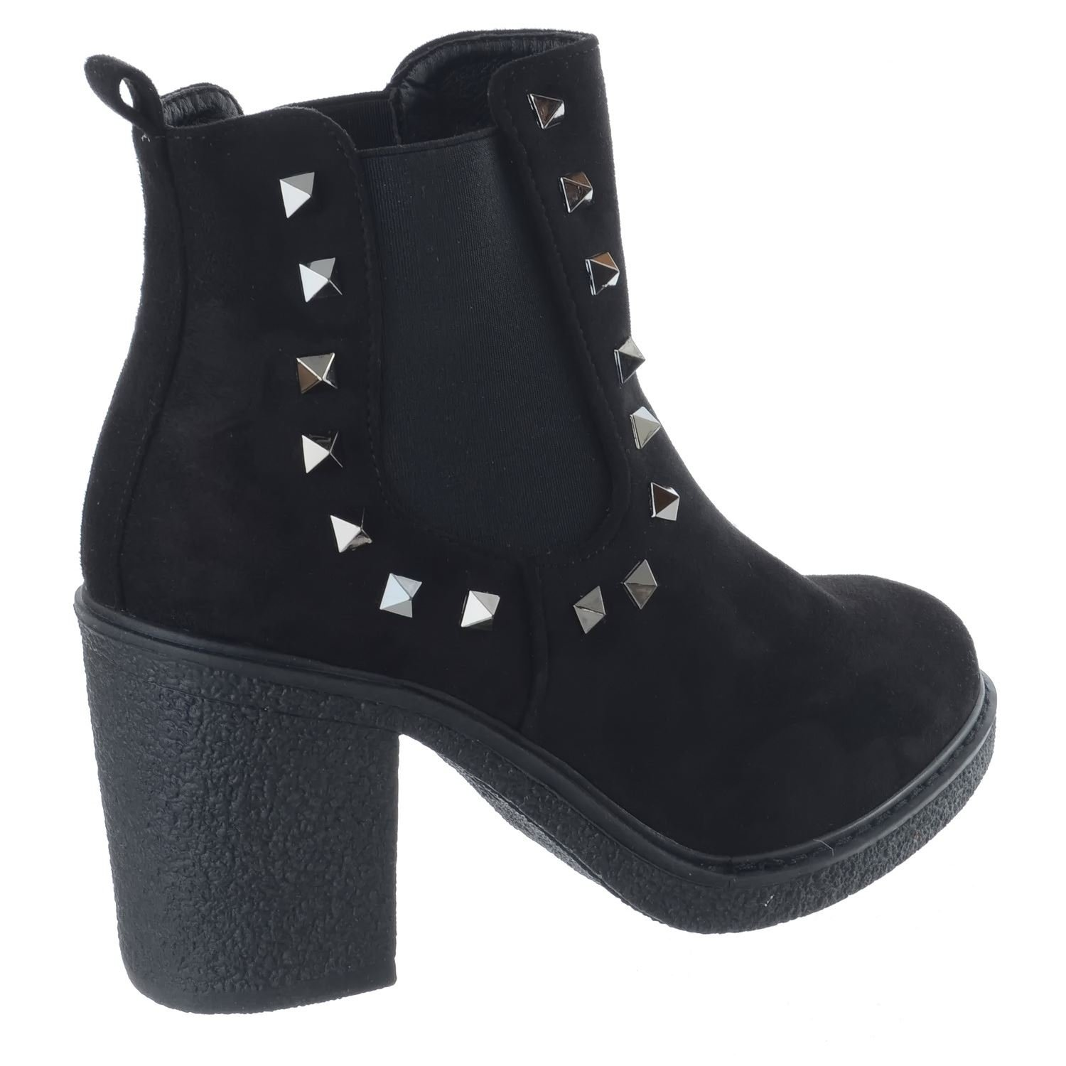 1e6c19a4c8 Miss Image UK Ladies Womens Mid High Block Heels New Chelsea Studded  Platform Ankle Boots Shoes Size: Amazon.co.uk: Shoes & Bags