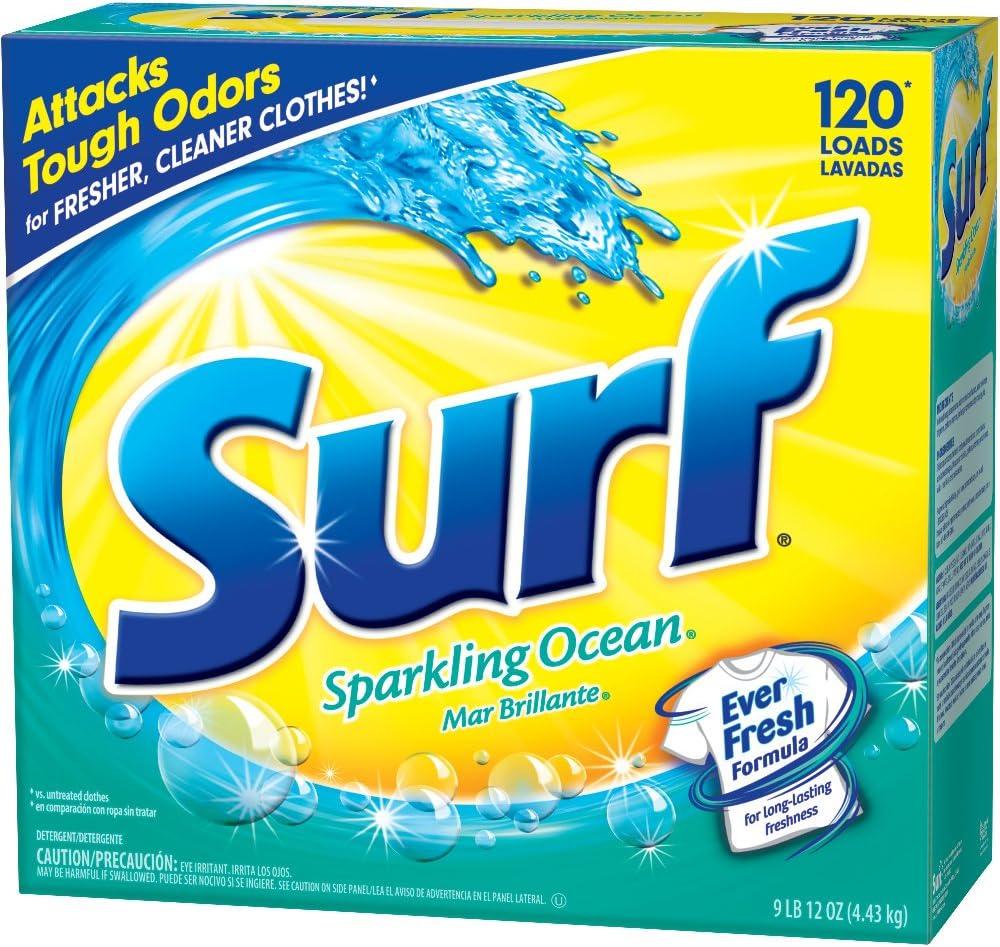 Surf Powder Laundry Detergent, Sparkling Ocean, 156 Ounce, 120 Loads