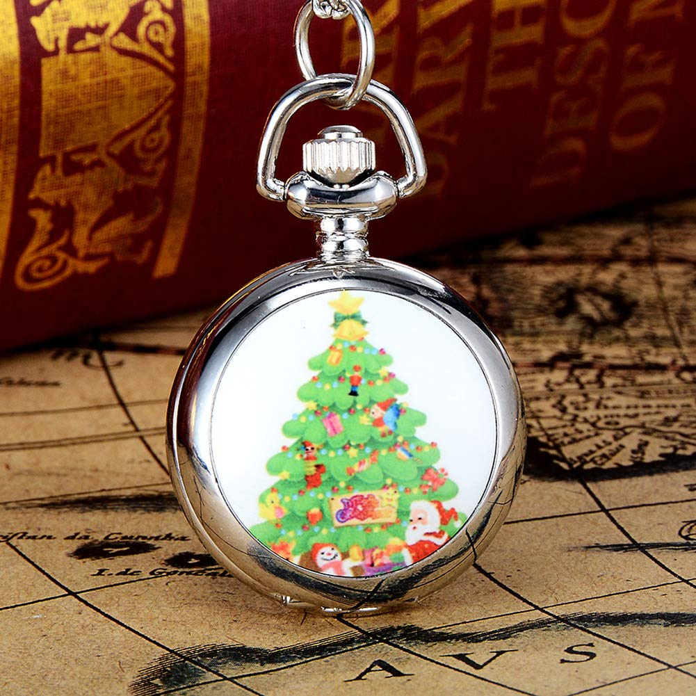 Snowman Christmas Tree Santa Claus Xmas Child Fancy Party Pocket Watch Gift by Gaweb (Image #8)
