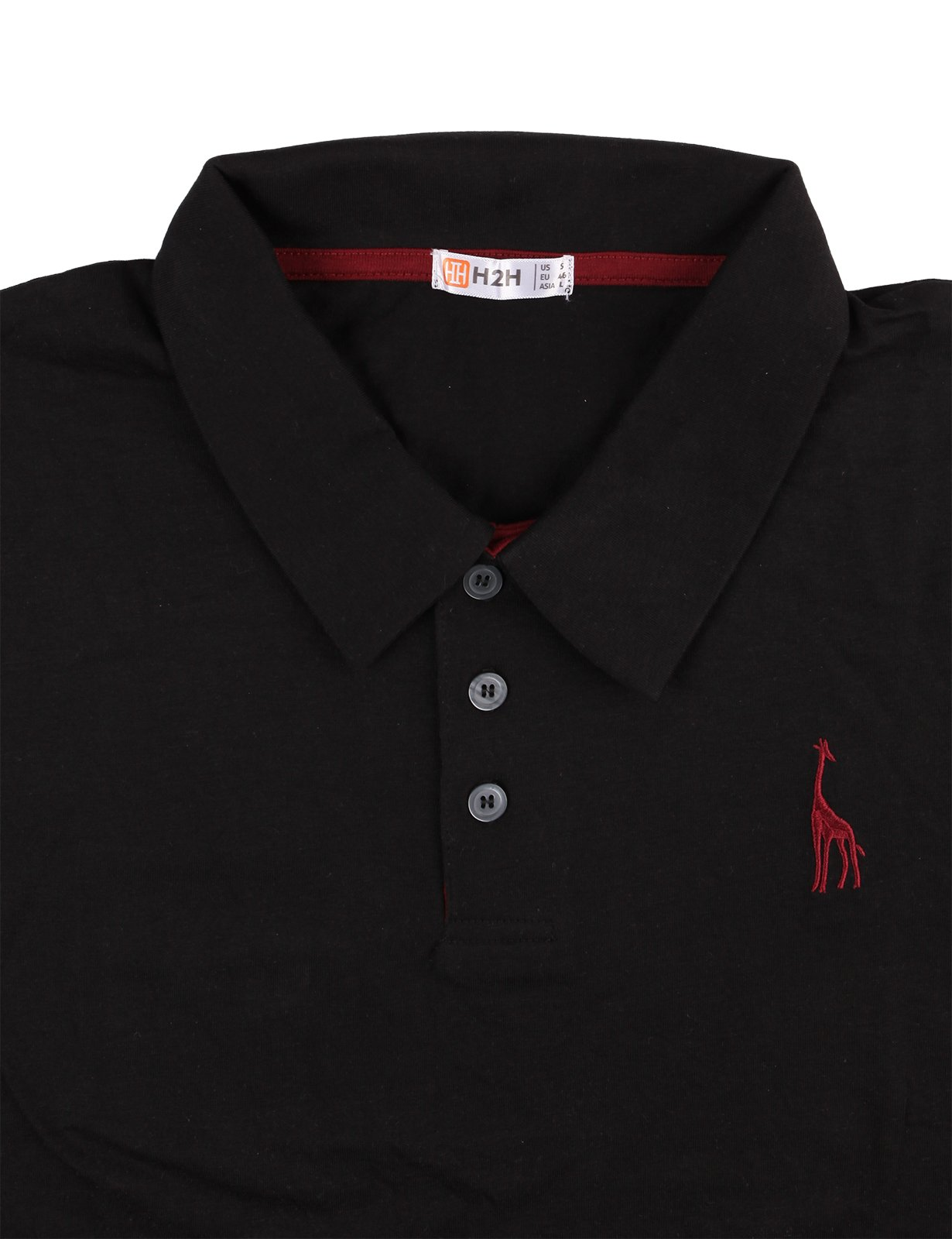 H2h Mens Fine Cotton Giraffe Polo Shirts Of Various Colors Bcd