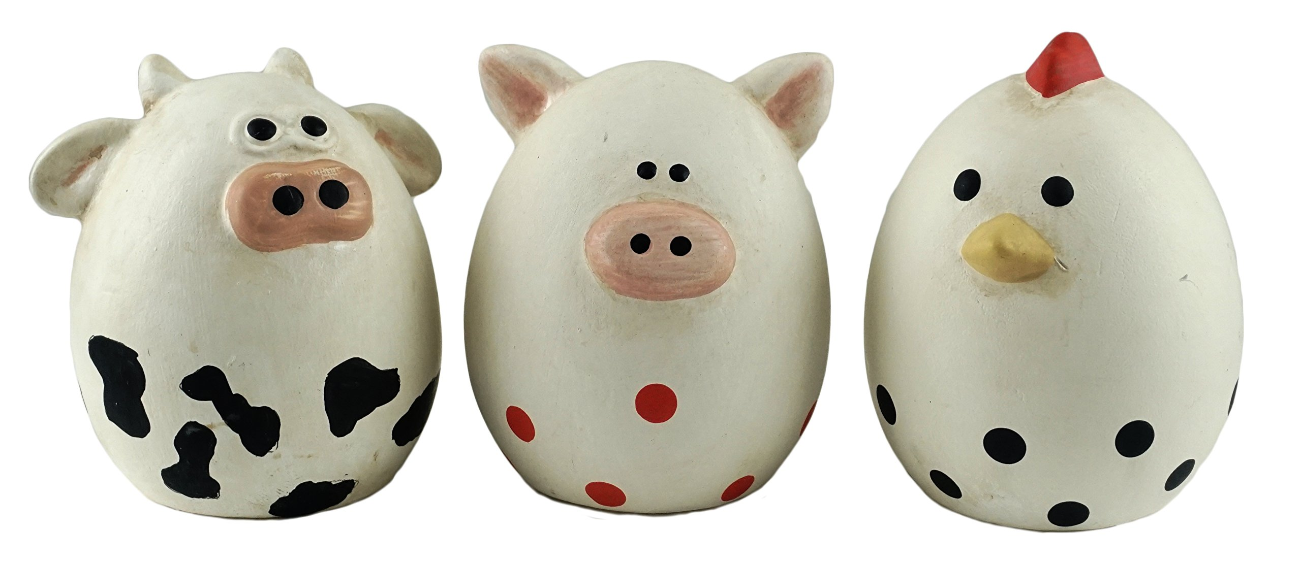 Party Explosions® Farm Animal Egg Shaped Figurines - Set of 3