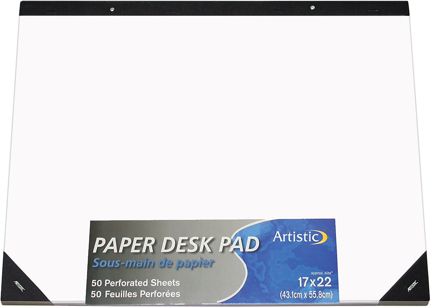 "Artistic 17""x22"" Plain White Paper Drawing & Note Desk Pad, 50 Sheets, Perforated, Ideal for Ideas & Notes, Protects Desks From Scratches and Spills : Office Desk Pads And Blotters : Office Products"