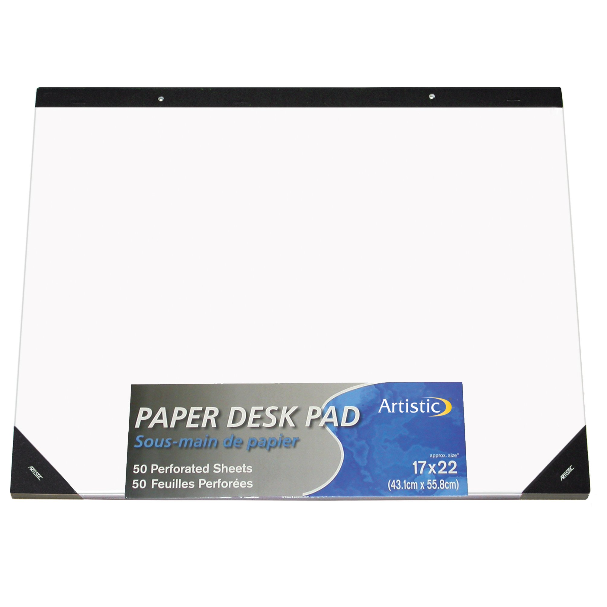Artistic Office Products 17'' x 22'' Plain Paper Drawing & Note Desk Pad, White Paper