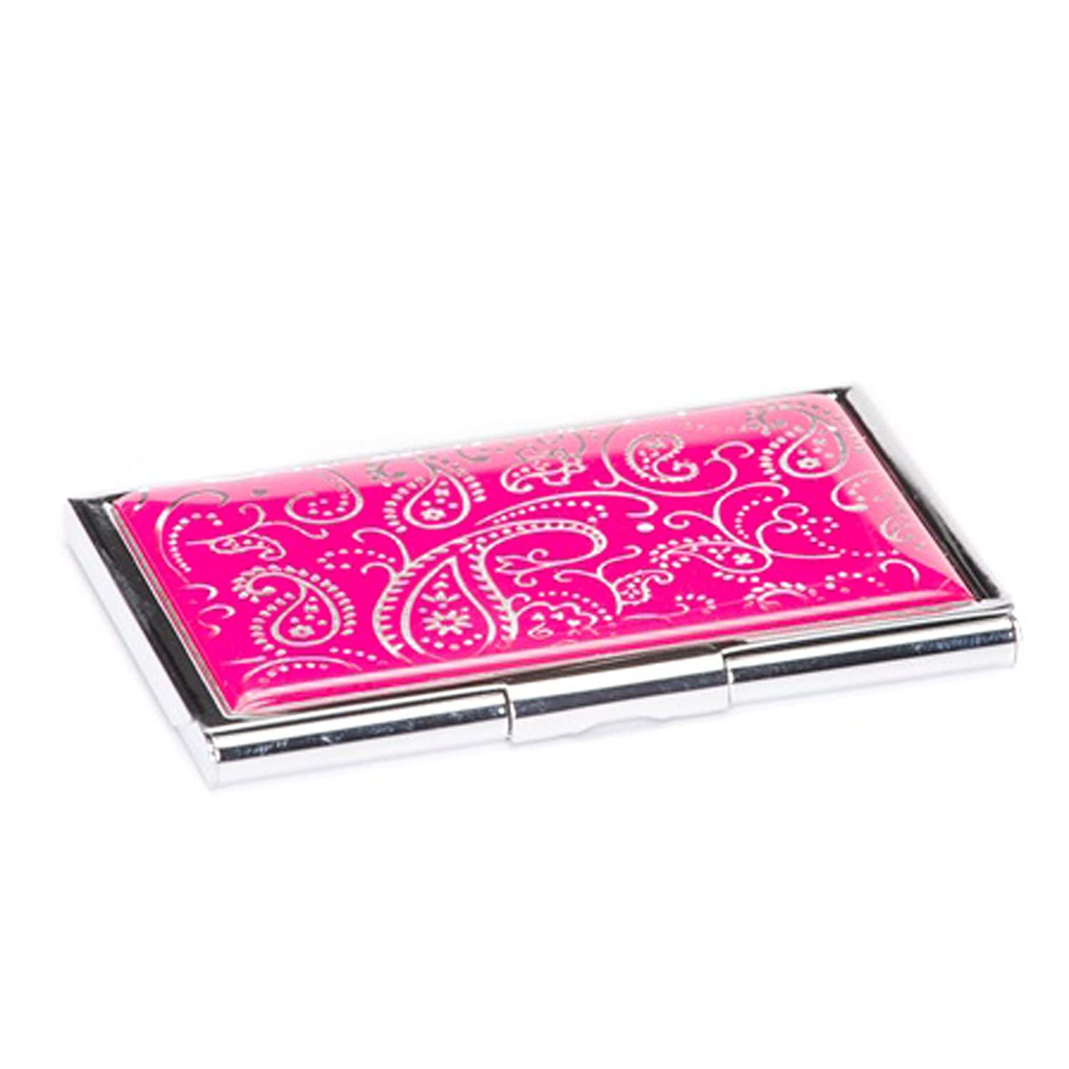 pink paisley business card case at women s clothing store